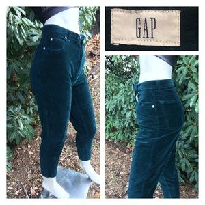 90's Jewel Tone Velvet High Waist Jeans GAP